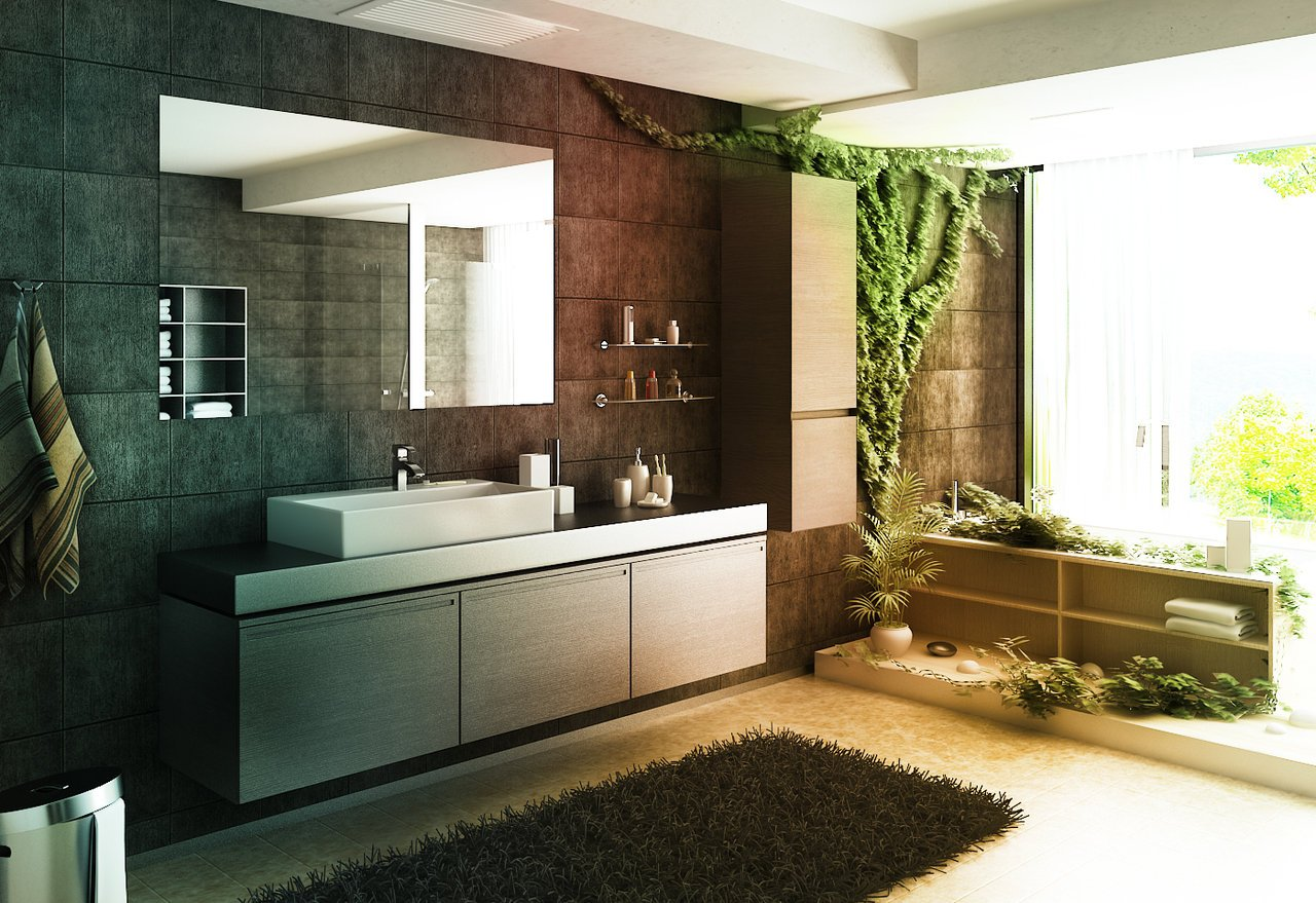 21 big bathroom design ideas for Big bathroom designs