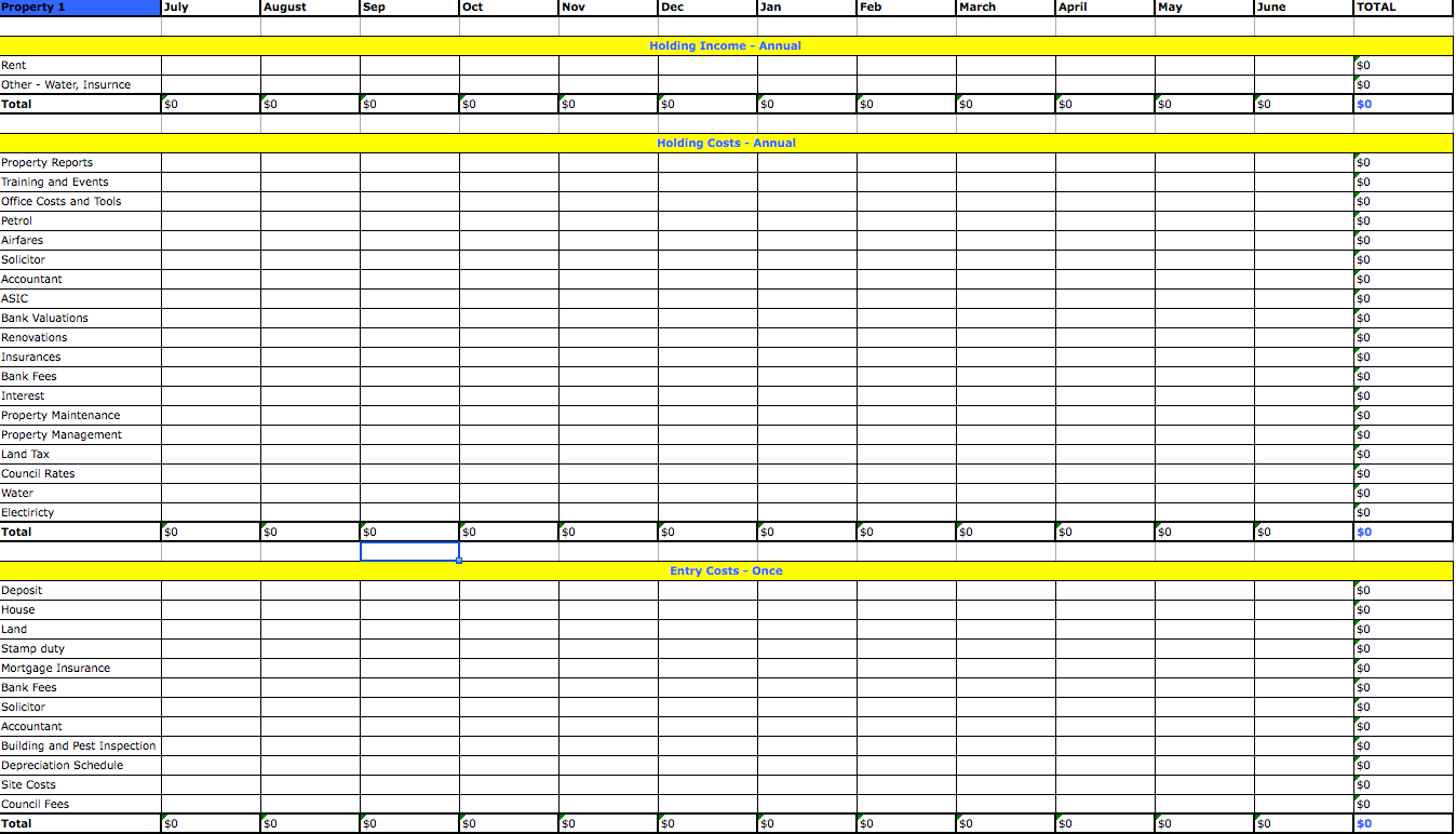 personal income and expense spreadsheet