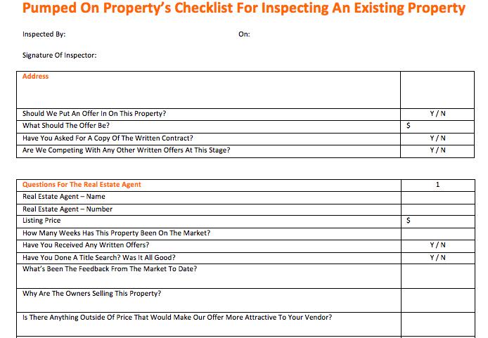 Snapshot Of Checklist